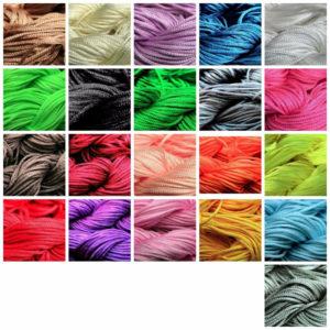 1 Hank ( 30 Metres ) Nylon Braided Braiding Cord Thread 1mm Kumihimo