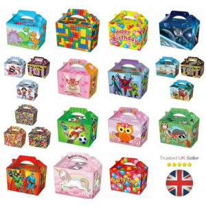 10 Party Food Boxes Loot Lunch Cardboard Gift Boxes