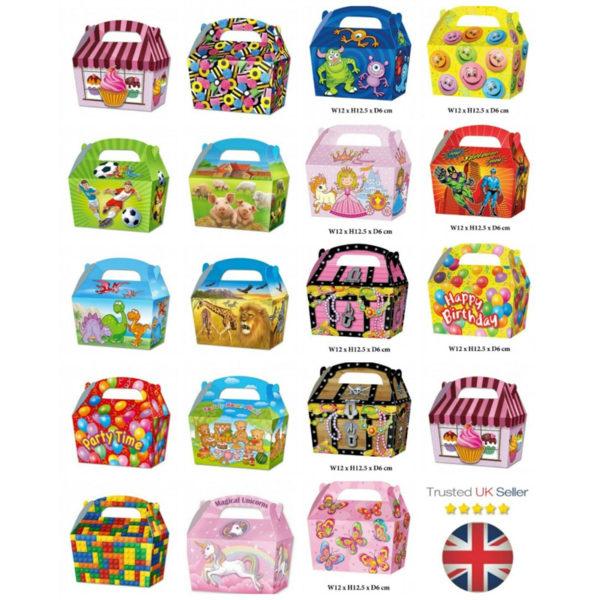 10 x Treat Boxes Cupcake Gift Bags Kids ML