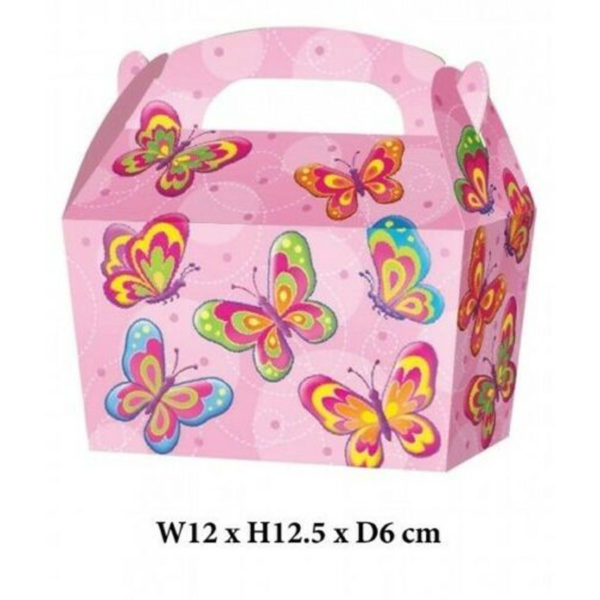 10 x Treat Boxes Cupcake Gift Bags Kids ML Butterfly