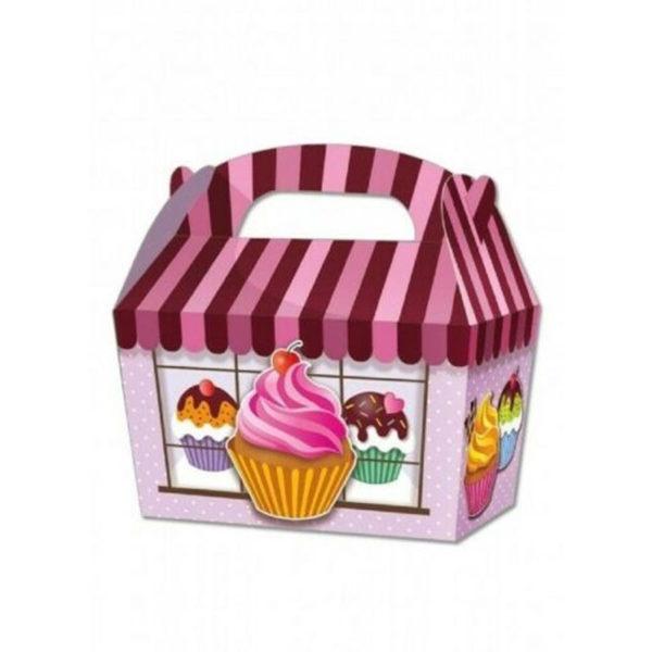 10 x Treat Boxes Cupcake Gift Bags Kids ML Cupcake
