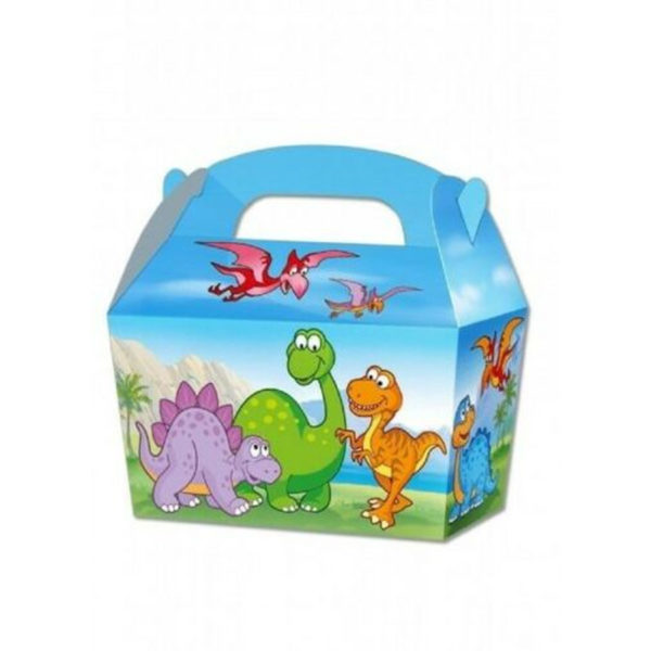 10 x Treat Boxes Cupcake Gift Bags Kids ML Dinosaurac
