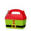10 x Treat Boxes Cupcake Gift Bags Kids ML Elf