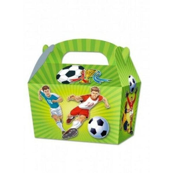 10 x Treat Boxes Cupcake Gift Bags Kids ML Football