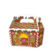 10 x Treat Boxes Cupcake Gift Bags Kids ML Gingerbread House