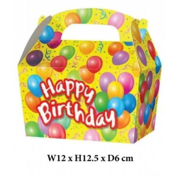 10 x Treat Boxes Cupcake Gift Bags Kids ML Happy Birthday