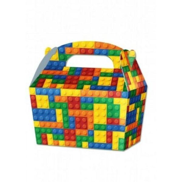 10 x Treat Boxes Cupcake Gift Bags Kids ML Lego