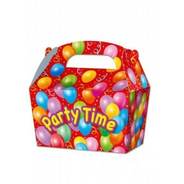 10 x Treat Boxes Cupcake Gift Bags Kids ML Party Time