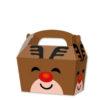 10 x Treat Boxes Cupcake Gift Bags Kids ML Reindeer