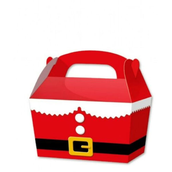 10 x Treat Boxes Cupcake Gift Bags Kids ML Santa