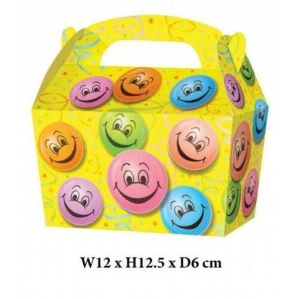 10 x Treat Boxes Cupcake Gift Bags Kids ML Smiley Face