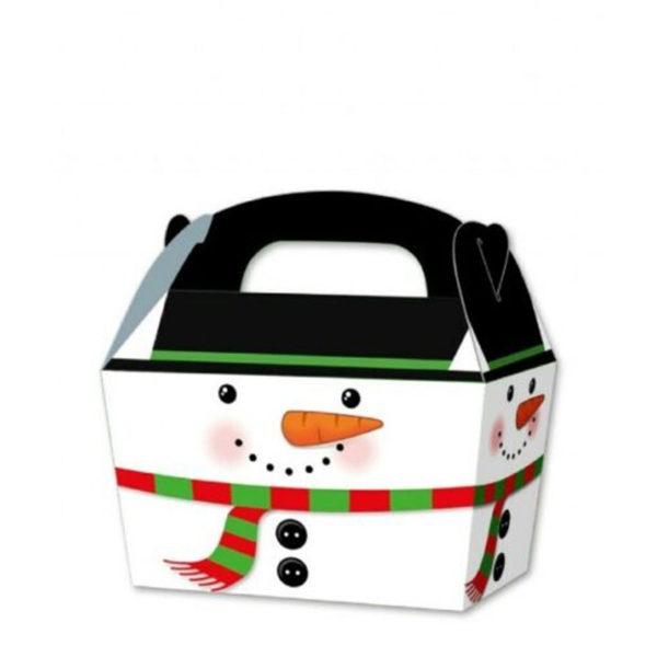 10 x Treat Boxes Cupcake Gift Bags Kids ML Snowman