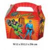 10 x Treat Boxes Cupcake Gift Bags Kids ML Superhero