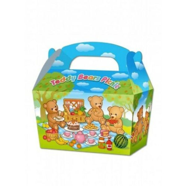 10 x Treat Boxes Cupcake Gift Bags Kids ML Teddy Bears' Picnic