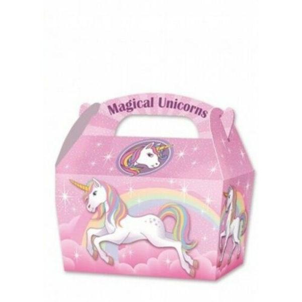 10 x Treat Boxes Cupcake Gift Bags Kids ML Unicorn