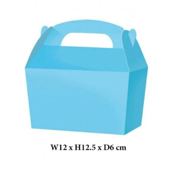 10 x Treat Boxes Cupcake Gift Party Loot Bag ML Baby Blue