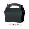 10 x Treat Boxes Cupcake Gift Party Loot Bag ML Black