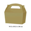 10 x Treat Boxes Cupcake Gift Party Loot Bag ML Gold