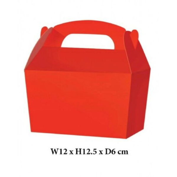 10 x Treat Boxes Cupcake Gift Party Loot Bag ML Red