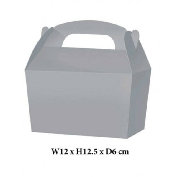 10 x Treat Boxes Cupcake Gift Party Loot Bag ML Silver