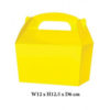 10 x Treat Boxes Cupcake Gift Party Loot Bag ML Yellow