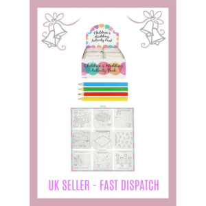 Kids Wedding Activity Pack Colouring Book & Crayons