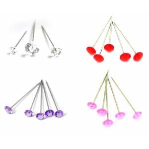 Diamante/Diamonte Pins Buttonholes Weddings Bouquets Assorted Colours ML