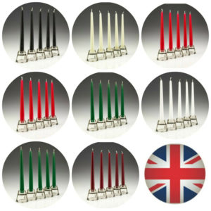 6 x Tapered Dinner Candles NON-DRIP Candles