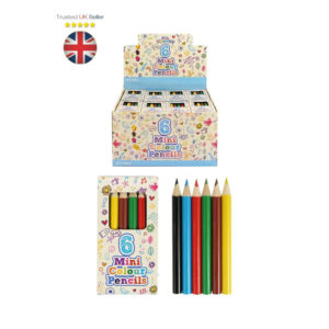 Packs 6 Mini Colouring Pencils Kids Party Bags Fillers Toys Lucky Dip