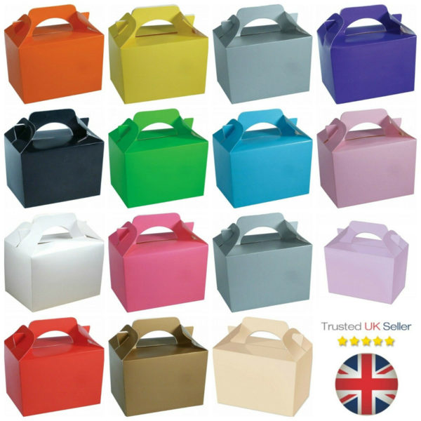 10 x Food Lunch Boxes Cupcake Gift Party Loot Bag Wedding Children Birthday Kids