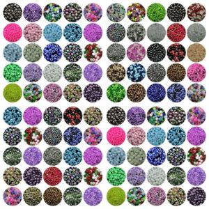 30g x Approx 4mm Size 6/0 Glass Seed Beads Jewellery Beading Pastel Mix F42