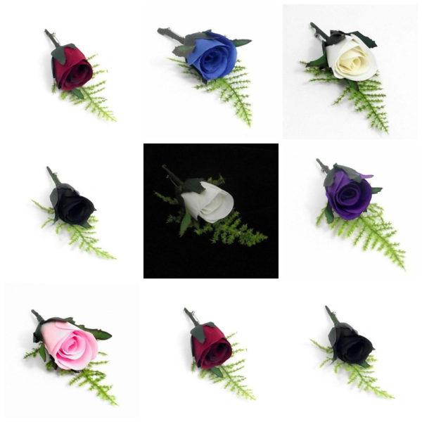 Artificial Romance Bridal Button Hole Corsage Complete With Lapel Pin Colours ML