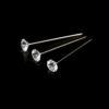 Clear Diamante Pins Buttonholes Weddings Bouquets Assorted Sizes ML