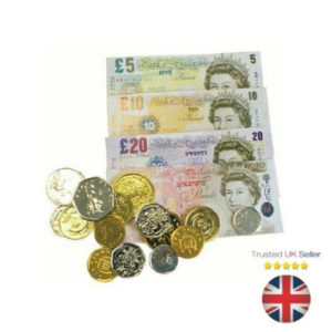 Kids Fake Toy Play Money Notes & Coins School Learning Children Shops Pretend