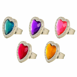 Heart Princess Jewel Rings Boys Girls Loot Pinata Birthday Party Bag Fillers