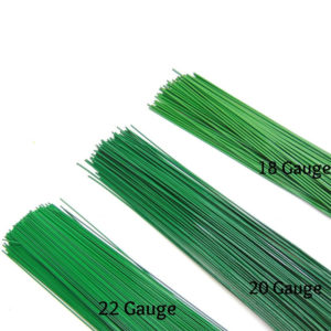 Random Mix of Gauge & Length Green Florist Stub Wires 250g