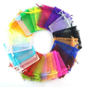 30 Mixed Organza Gift Bags Jewellery Bag Wedding Party Favour Xmas Sweets UK R50