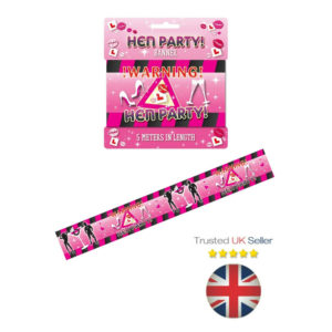 5m - Hen Party WARNING TAPE Room Decoration Night Do Novelty Men Willy UK