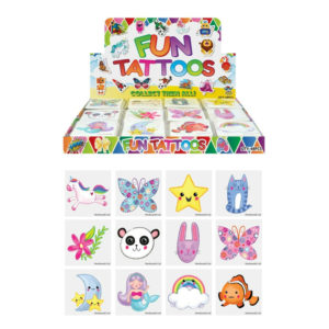 CUTE ANIMALS KIDS TEMPORARY TATTOOS Assorted Designs Party Bag Filler Loot Girls