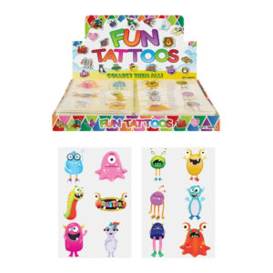 MONSTER KIDS TEMPORARY TATTOOS Assorted Designs Party Bag Filler Loot Girls Boys