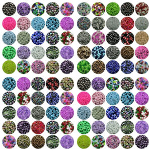 100g x Approx 3mm Size 8/0 Glass Seed Beads Jewellery Beading