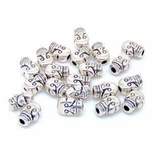 20 x 9mm Tibetan Silver Skull Beads Craft Beading Jewellery Craft K84