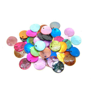 Mixed Colour Mother of Pearl Shell Charm Beads 15mm & 10mm Sizes Jewellery Craft