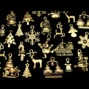 Tibetan Golden Random Mix Christmas Charms Festive Pendants Xmas ML